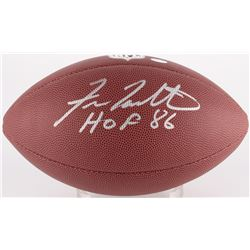 "Fran Tarkenton Signed Football Inscribed ""HOF 86"" (Schwartz COA)"