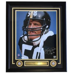 "Jack Lambert Signed Steelers 22x27 Custom Framed Photo Display Inscribed ""HOF '90"" (SI COA  JSA Holo"