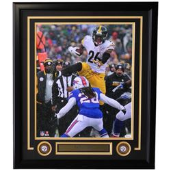 Le'Veon Bell Signed Steelers 22x27 Custom Framed Photo Display (JSA COA)