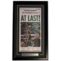 """Eagles Super Bowl LII Champions"" 18x30 Custom Framed Philadelphia Inquirer Newspaper Cover Display"
