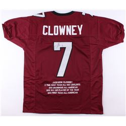 Jadeveon Clowney Signed South Carolina Gamecocks Career Highlight Stat Jersey (JSA COA)