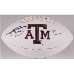 "Johnny Manziel Signed Texas AM Aggies Logo Football Inscribed ""12 Heisman"" (JSA COA)"
