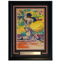 "Leroy Neiman Willie Mays ""Say Hey Kid"" 18x24 Custom Framed Print Display"