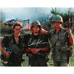 "Charlie Sheen Signed ""Platoon"" 16x20 Photo (MAB Hologram)"