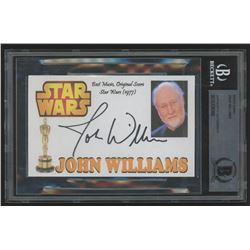 John Williams Signed 3x5 Index Card (Beckett Encapsulated)