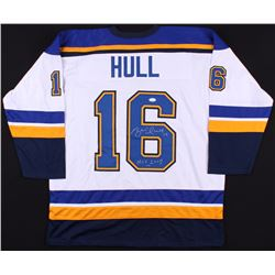 "Brett Hull Signed Blues Jersey Inscribed ""HOF 2009"" (JSA COA)"