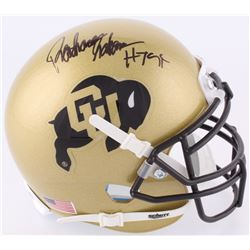 "Rashaan Salaam Signed Colorado Buffaloes Mini-Helmet Inscribed ""H.T. 94"" (JSA COA)"