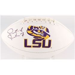 Patrick Peterson Signed LSU Tigers Logo Football (JSA COA)