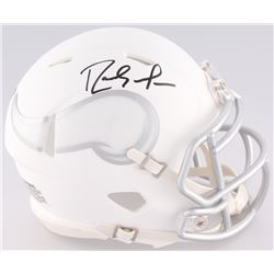 Randy Moss Signed Matte White Ice Vikings Mini-Helmet (JSA COA)