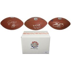 Schwartz Sports Football Superstar Signed Full Size Football - Series 4 (Limited to 100)