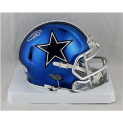 Emmitt Smith Signed Cowboys Blaze Speed Mini Helmet (Beckett COA  Prova Hologram)