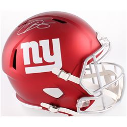 Odell Beckham Jr Signed Giants Full-Size Blaze Speed Helmet (JSA COA)
