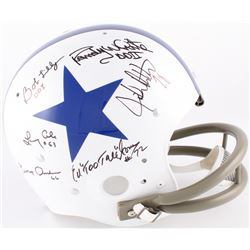 Doomsday Defense I  II Cowboys Throwback Suspension Full-Size Helmet Signed by (6) with Bob Lilly, E