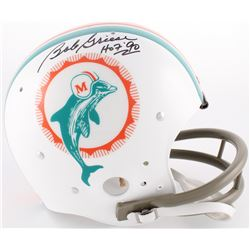"Bob Griese Signed Dolphins Throwback TK Full-Size Suspension Helmet Inscribed ""HOF '90"" (JSA COA)"
