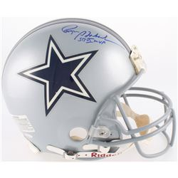 "Roger Staubach Signed Cowboys Full-Size Authentic On-Field Helmet Inscribed ""SB VI MVP"" (TriStar Hol"