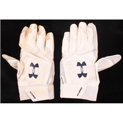 Lot of (2) Freddie Freeman Under Armour Game-Used Batting Gloves (Radtke COA)