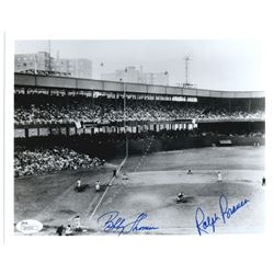 "Bobby Thomson  Ralph Branca Signed ""Shot Heard 'Round the World"" 8x10 Photo (JSA COA)"