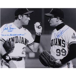 "Charlie Sheen  Corbin Bernsen Signed ""Field Of Dreams"" 16x20 Photo Inscribed ""Dorn""  ""Strike That Mo"