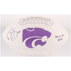 "Darren Sproles Signed Kansas State Logo Football Inscribed ""Eat Em Up KSU"" (Radtke Hologram)"