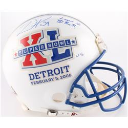 """Willie Parker Signed LE Super Bowl XL Logo Authentic On-Field Full-Size Helmet Inscribed """"Largest SB"""
