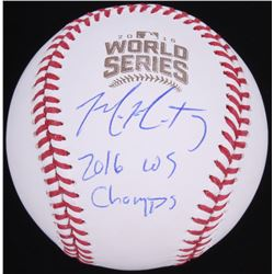 "Mike Montgomery Signed 2016 World Series Baseball Inscribed ""2016 WS Champs"" (Schwartz Sports COA)"