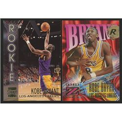 Lot of (2) Kobe Bryant Cards with 1996-97 Stadium Club Members Only Parallel II #R9 1996-97 Z-Force