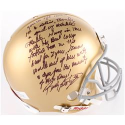Rudy Ruettiger Signed Notre Dame Fighting Irish Authentic On-Field Full Size Helmet With Extensive I