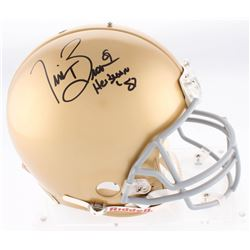 "Tim Brown Signed Notre Dame Fighting Irish Authentic On-Field Full-Size Helmet Inscribed ""Heisman '8"