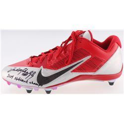 "Jalin Marshall Signed Ohio State Buckeyes Nike Football Cleat Inscribed ""2014 National Champs"" (JSA"