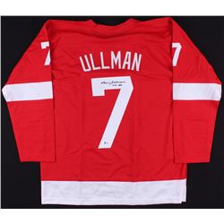 "Norm Ullman Signed Red Wings Jersey Inscribed ""HOF 82"" (Beckett COA)"