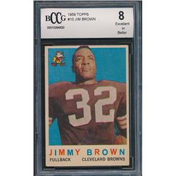 1959 Topps #10 Jim Brown (BCCG 8)
