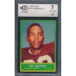 1963 Topps #14 Jim Brown SP (BCCG 7)