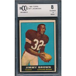 1961 Topps #71 Jim Brown (BCCG 8)