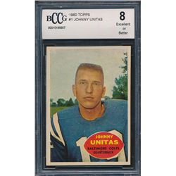 1960 Topps #1 Johnny Unitas (BCCG 8)