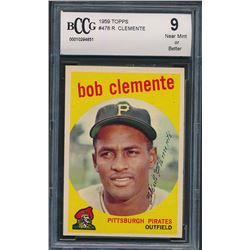 1959 Topps #478 Roberto Clemente (BCCG 9)