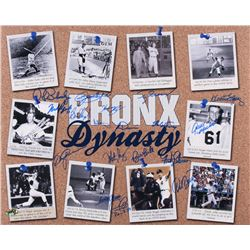 """Bronx Dynasty"" Yankees 16x20 Photo Signed by (18) with Al Downing, Roy White, Fritz Peterson, Gene"