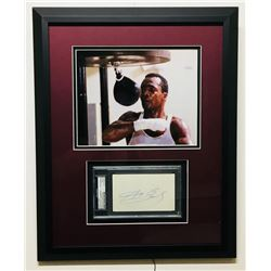Sugar Ray Leonard Signed 16x20 Custom Framed Cut Display (PSA Encapsulated)