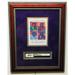 "Fats Domino Signed 13.5x17 Custom Framed Piano Key Display Inscribed ""Luck"" (JSA COA)"