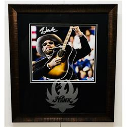 Hank Williams Jr. Signed 14.5x16.5 Custom Framed Photo Display (PSA COA)