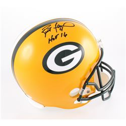 "Brett Favre Signed Packers Full-Size Helmet Inscribed ""HOF 16"" (JSA COA)"