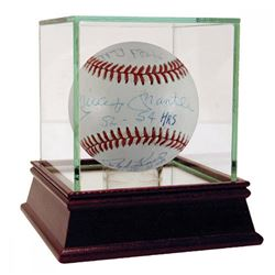 50 Home Run Club Baseball Signed by (10) with Mickey Mantle, Ralph Kiiner, Willie Mays, Johnny Mize