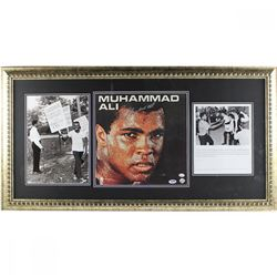 Muhammad Ali Signed 19x37 Custom Framed Album Display (PSA COA)