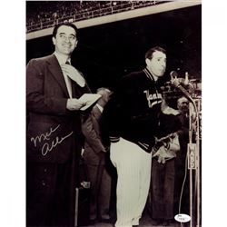 Mel Allen Signed 11x14 Photo With Joe Dimaggio (JSA Hologram)