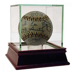 1994 American League All-Star Baseball Team-Signed by (25) with Kirby Puckett, Cal Ripken Jr., Paul