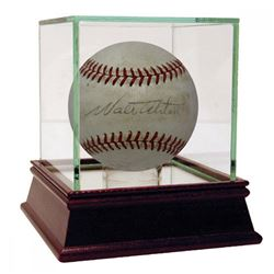 Walter Alston Signed ONL Baseball (PSA Hologram)