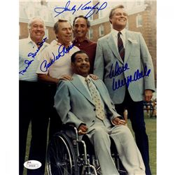 Dodgers Greats 8x10 Photo Team-Signed by (4) with Don Drysdale, Pee Wee Reese, Duke Snider  Sandy Ko
