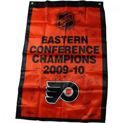 2009-10 Philadelphia Flyers Eastern Conference Champions 36x24 Banner Team-Signed by (18) with Claud
