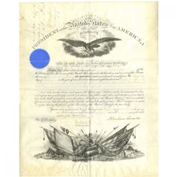 Abraham Lincoln Signed Official 1865 Document (Beckett COA)