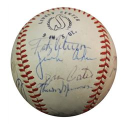 1971 New York Yankees Baseball Team-Signed by (15+) with Thurman Munson, Mel Stottlemyre, Jack Aker