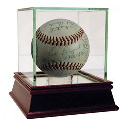 1955 New York Yankees OAL Baseball Team-Signed by (27) with Mickey Mantle, Whitey Ford, Yogi Berra (